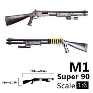 Image 3 - 1:6 1/6 בקנה מידה 12 inch אבזר בנלי M1 סופר 90 חייל חלקי דגם רובים להשתמש עבור 1/100 MG bandai Gundam מתנה