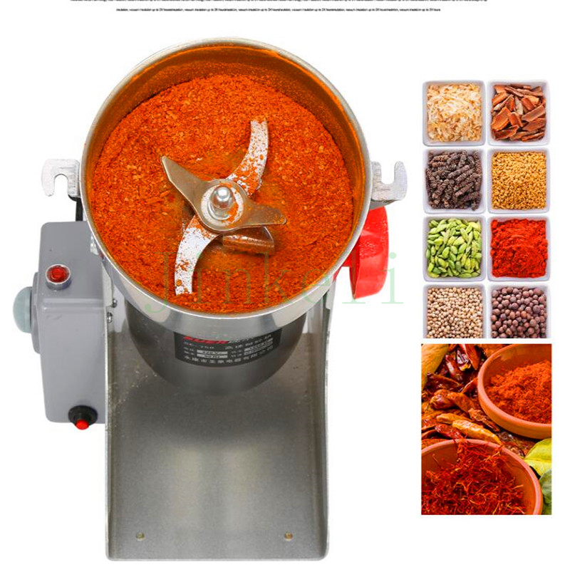 free ship 750g Swing Type mill Electric commercial and home use chili herb rice powder grinder food powder grinding machine great value food grinder stainless steel swing milling machine small powder grinding machine home commercial electric flour mill