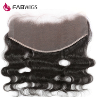 Fabwigs Brazilian Body Wave 13x6 Lace Frontal Bleached Knots 100 Human Hair 10 20 Ear To