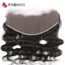 Fabwigs 13x6 Lace Frontal Closure with Baby Hair Pre Plucked Brazilian Body Wave Lace Frontal Bleached