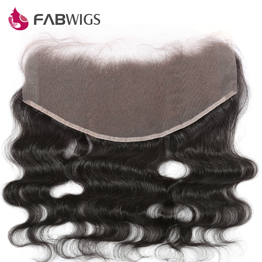 Fabwigs Brazilian Body Wave 13x6 Lace Frontal Bleached Knots font b Human b font font b