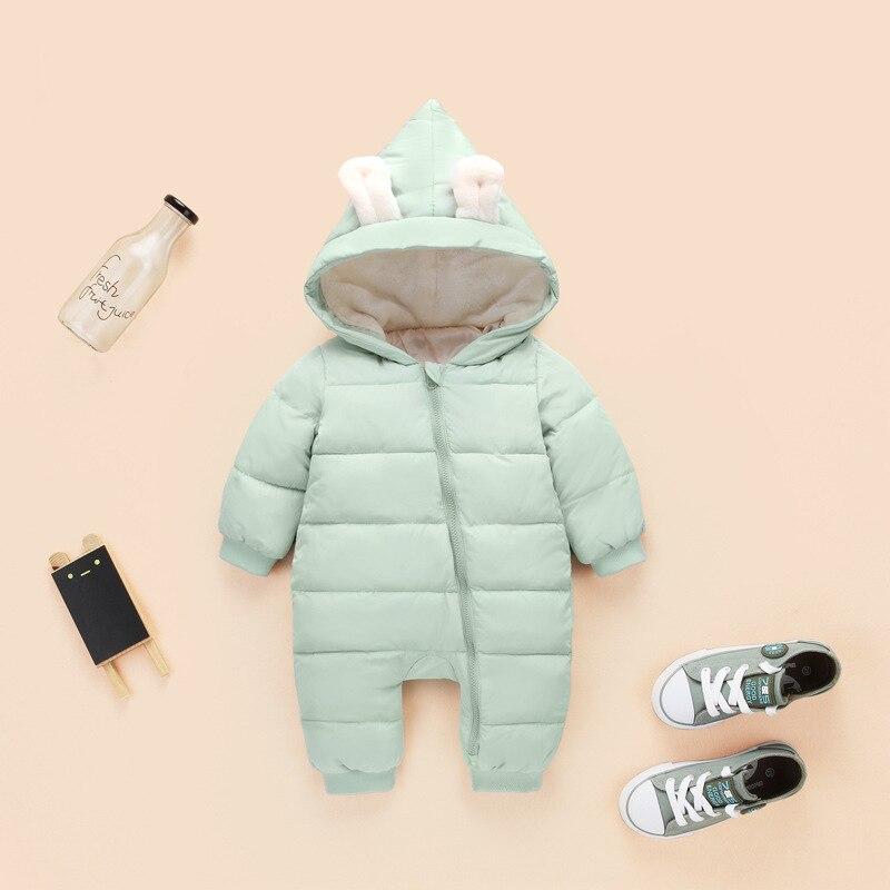Lovely Girls Winter Jumpsuit Baby Newborn Snowsuit Snow Wear Coats Boy Warm Romper 100% Down Cotton Clothes Bodysuit Outerwear & Coats