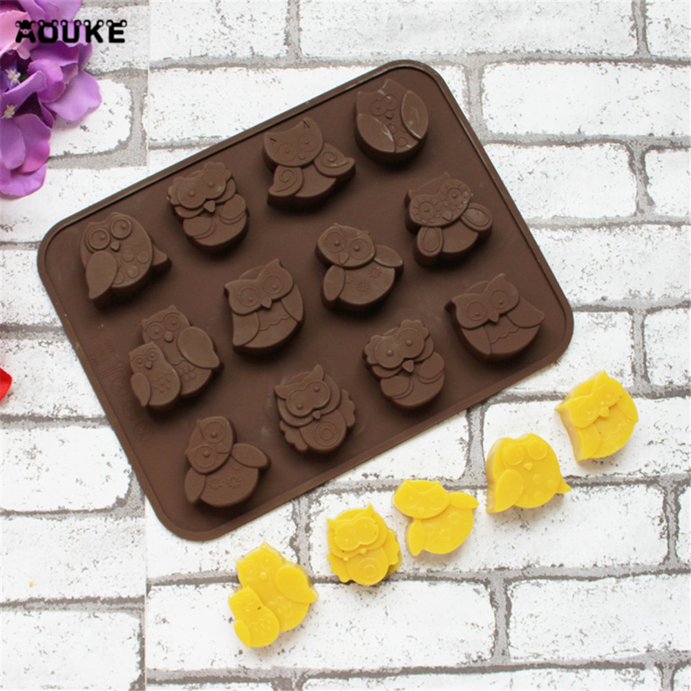 Owl Shape Ice Cubes Chocolate Silicone Mold Biscuits