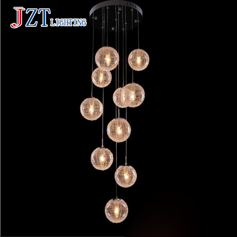ФОТО T LED Bulbs Modern Creative Pendant Light Fashion Aluminum Spheroidal Lamps For Stairway High-rise Restaurant  DHL FREE
