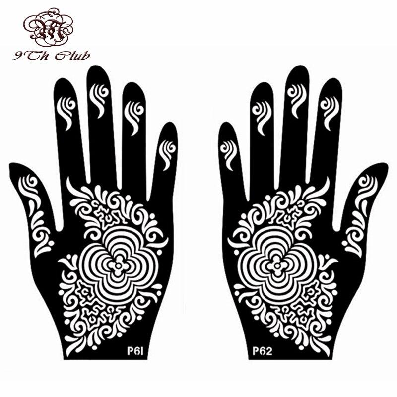 Aliexpress Buy 6 Pair New Henna Tattoo Stencil TemplateLeft – Tattoo Template