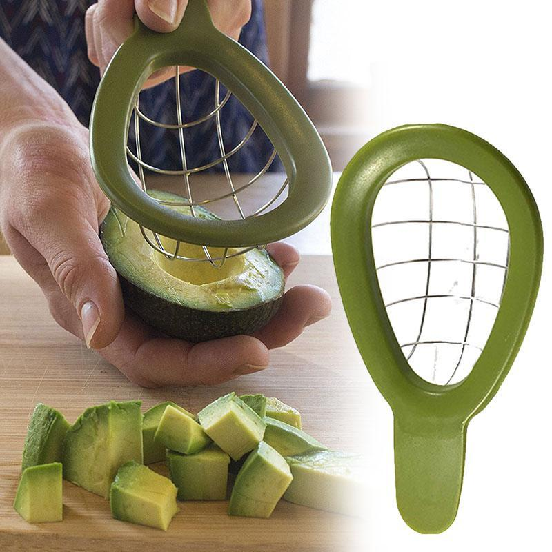 Avocado Slicer Cutting Tools Peeler Fruit Cutter Pulp Separator Plastic Knife Kitchen Vegetable Separated Gadgets #W