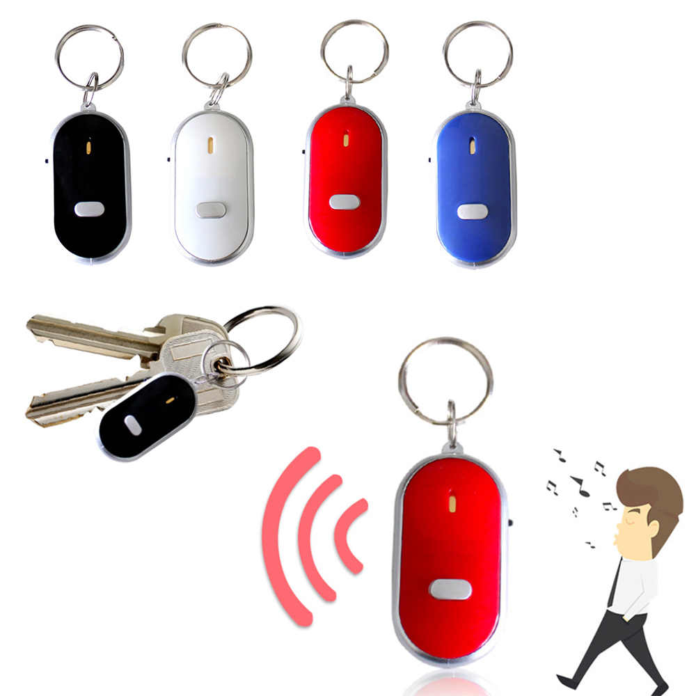 1 PC Anti-Lost Senter LED Remote Alarm Gantungan Kunci Finder Locator Dompet Tracker Mini Alarm Locator Melacak kunci