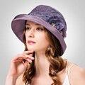 2016 Новая Коллекция Весна Лето Цветы Глянцевые Стерео Brim Фетровых Шляпа Британский Стиль Леди Мода Путешествия Шляпа B-3177