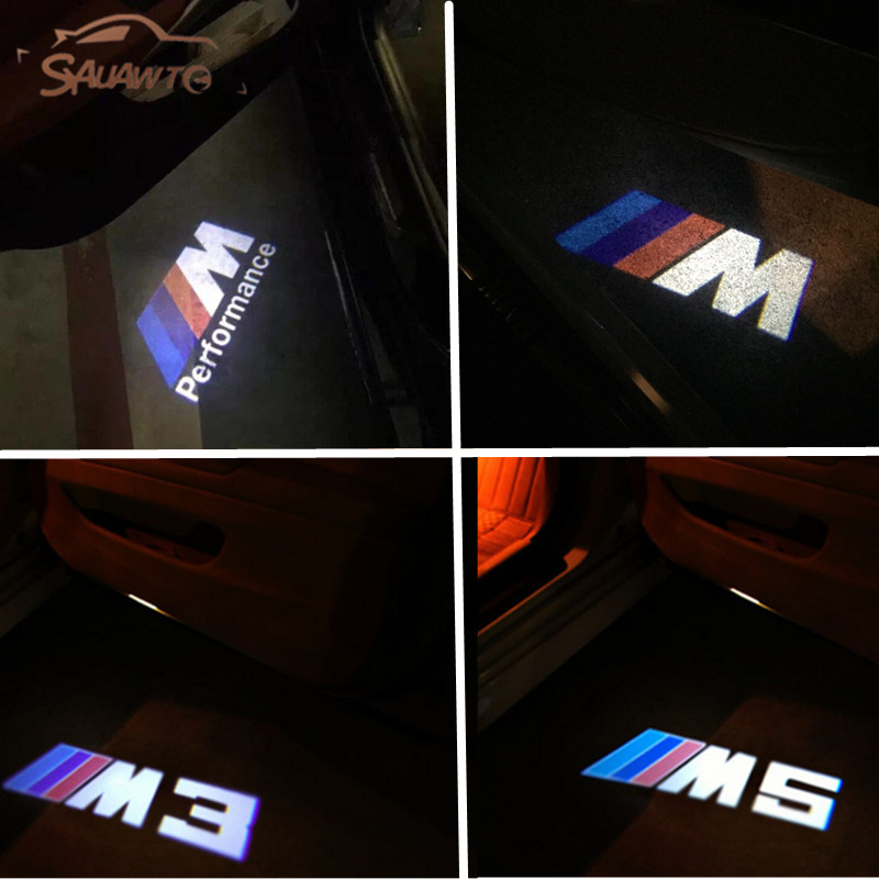 2PCS Car Door LED Logo Projector Ghost Shadow Lights For BMW E60 E90 F10 X1 X3 X5 X6 X4 E65 E66 E67 E68 F01 F02 F30 E89 Z4 Z3 GT