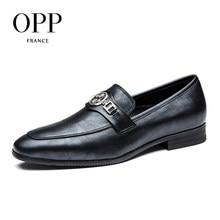 OPP Мужская Модельные туфли из натуральной кожи модные Стиль, дышащий Туфли под платье с пряжкой 2017 Мужская Обувь Zapatillas Hombre