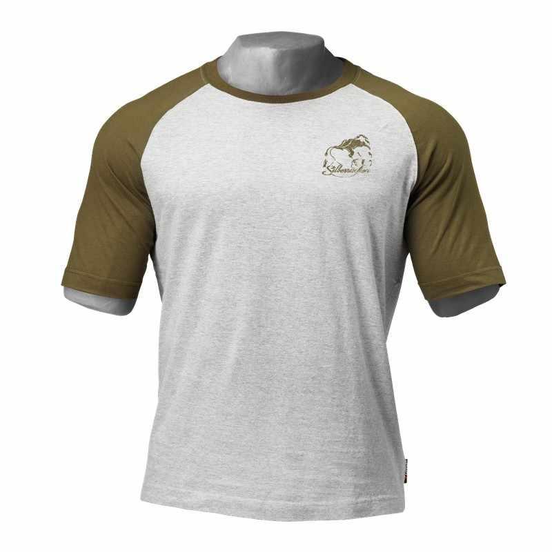 Горилла новая футболка с короткими рукавами для мужчин хлопок реглан рукавом тренажерные залы одежда для фитнеса пробежки мужские повседневные модные брендовые футболки топы