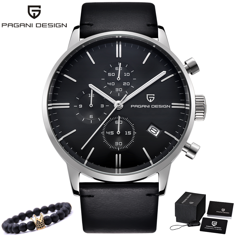 Top Brand Luxury PAGANI DESIGN Men Watches Chronograph waterproof Leather Quartz Watches Men s Fashion Sport