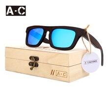 Angcen Hombres Mujeres Diseñador de la Marca gafas de Sol de 100% Natural De Bambú De Madera gafas de Sol Polarizadas UV400 gafas de Sol Gafas De Sol Mujer