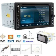 Double 2Din Touch Sceen Car Stereo Radio Player 6.2″ HD in-dash Car Audio Player FM/AM Analog TV built-in BT Car DVD MP3 Player