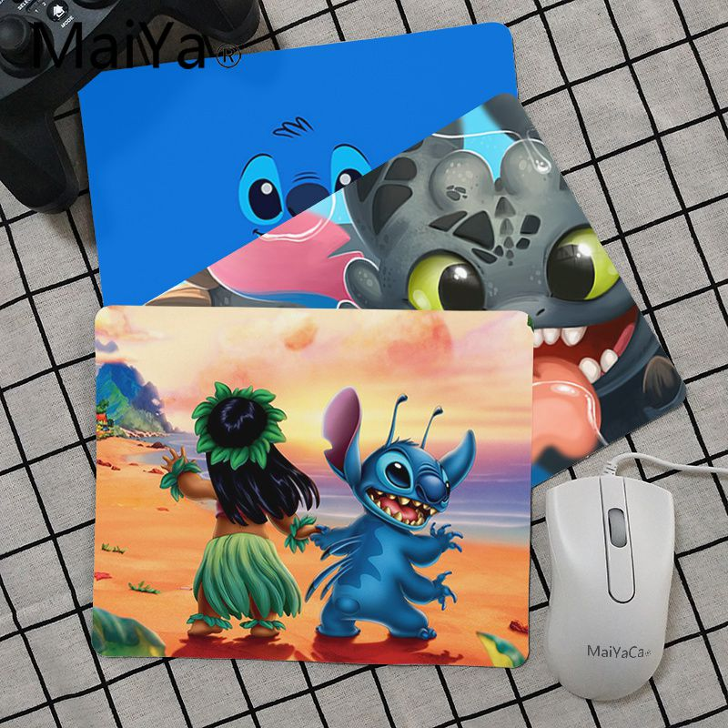 Maiya Top Quality Cartoon Cute Lilo And Stitch Comfort Mouse Mat Gaming Mousepad Top Selling Wholesale Gaming Pad Mouse