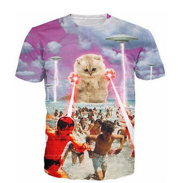 Kitty Attack 3D T-Shirt