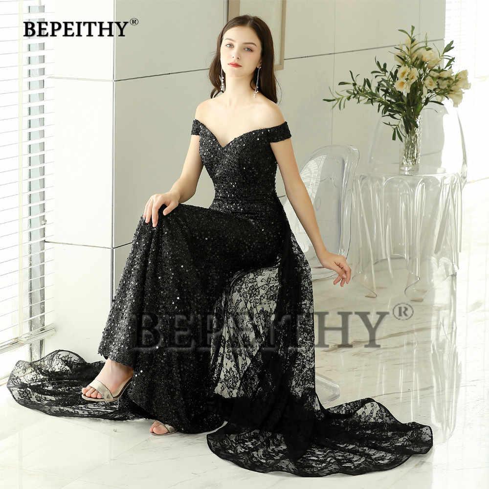 bced92e54f8 ... BEPEITHY New Design Black Lace Long Evening Dresses Party Elegant 2019 Robe  De Soiree Mermaid Prom ...