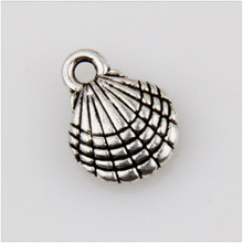35 pieces of beach casual shell Tibetan silver charm pendant jewelry making 13 mm
