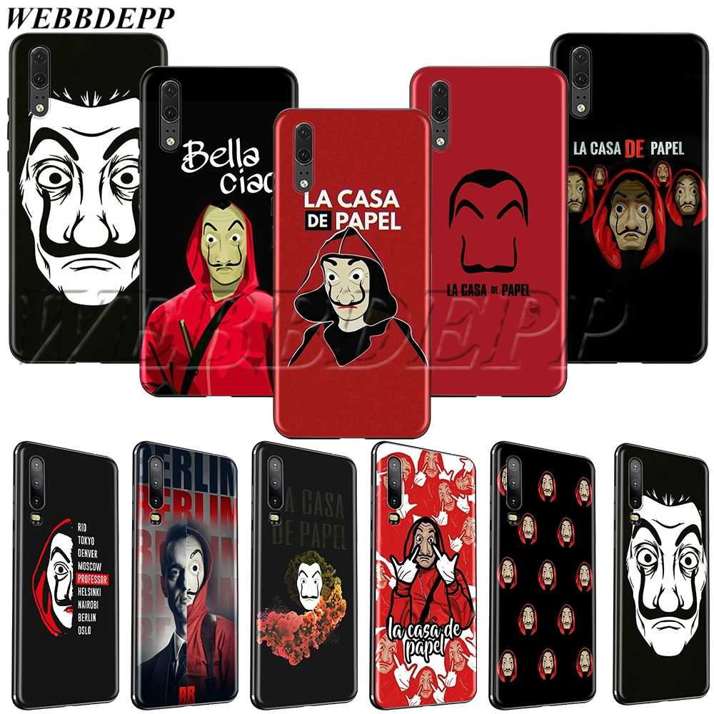 WEBBEDEPP Spain TV La Casa de papel TPU soft case for Huawei P8 P9 P10 P20 P30 Y5 Y6 Y7 Y9 P smart Lite Pro Prime Mini