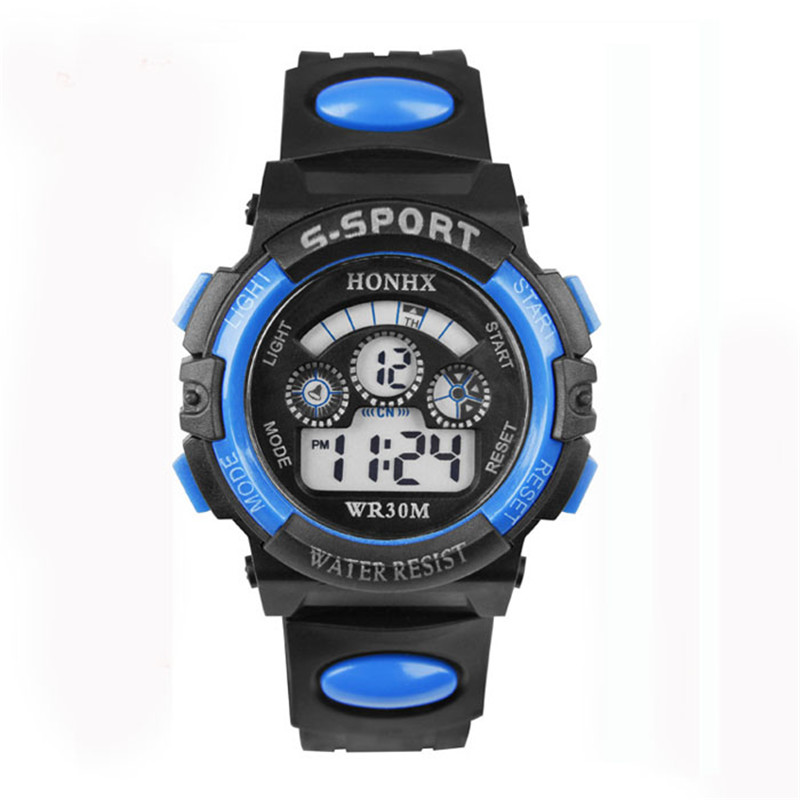 2017 New Living Waterproof Children Boy Watches Students Digital LED Quartz Alarm Date Sports Wrist Watch  Free Shipping A05