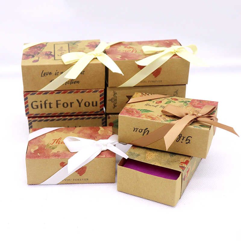 8.4*5.8*3cm flower box new best selling  Designs printed gift box Diy handmade love wedding favor gift Soap Box Baby Shower