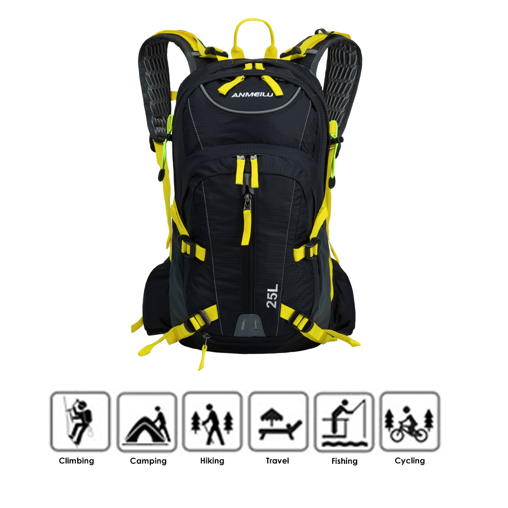 Lixada 25L Waterproof Breathable Bicycle Bike Shoulder Backpack Ultralight Outdoor Sports Riding Travel Hydration Water Bag