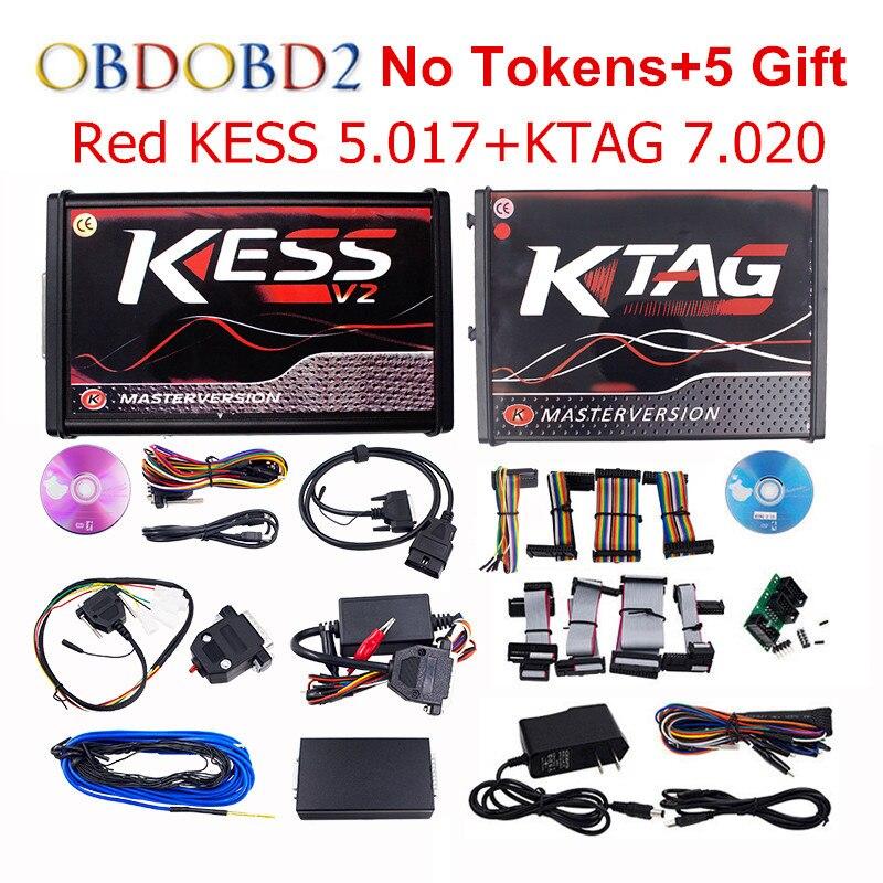 Online Maestro V5.017 V2.23 + KTAG KESS V7.020 V2.23 No Gettoni limite KESS 5.017 + K-TAG K Tag 7.020 ECU Programmatore DHL spedizione