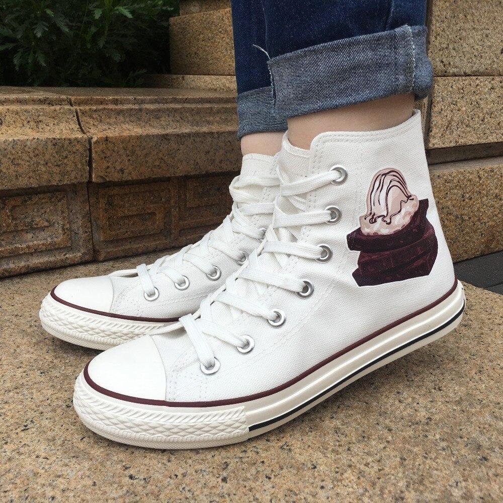 Wen Women Top Canvas Shoes Ice Cream