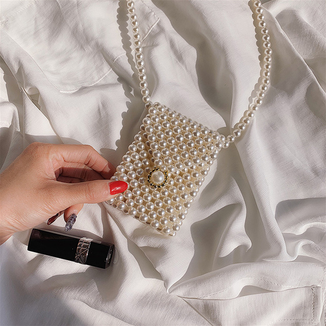 Handwoven Pearl Bags Lady...