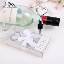 Heart Wine Stopper Wedding Favors