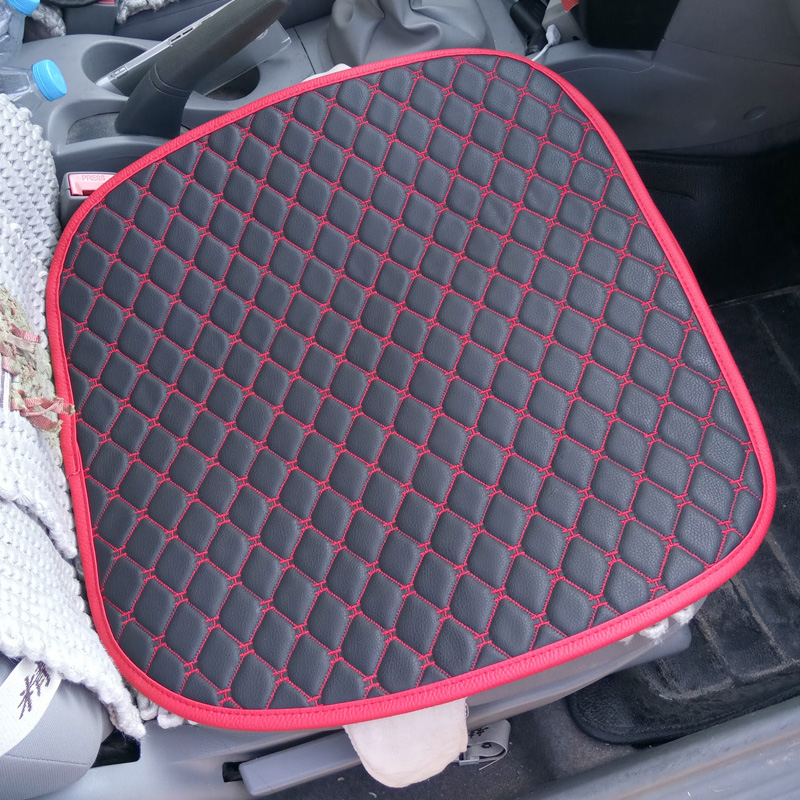 red black car seat cushion for female rhinestone fashion crystal auto upholstery pu leather. Black Bedroom Furniture Sets. Home Design Ideas