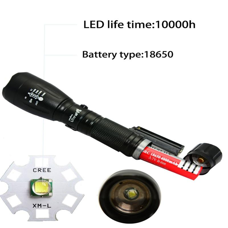 ⑤Mini 1000LM cree XML T6 LED zoomable linterna antorcha lámpara ...