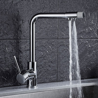 Free Shipping Europe Style Total Brass Chrome Kitchen Faucet Swivel Kitchen Mixer Tap 360 Degree Direct