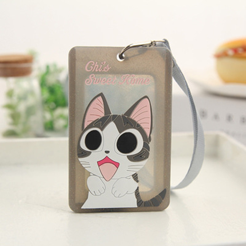 Cute Silicone Card Case Holder Bank Credit Card Holders Card Bus ID Holders Identity Badge With Cartoon Characters