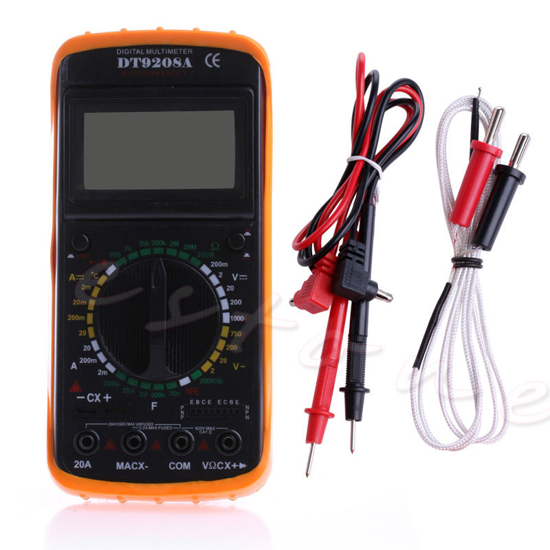 New Hot Digital Multimeter LCD AC/DC Ammeter Resistance Capacitance Tester DT9208A Useful new portable dt9208a 1999 counts lcd display multimeter electric handheld ac dc resistance capacitance voltmeter ammeter