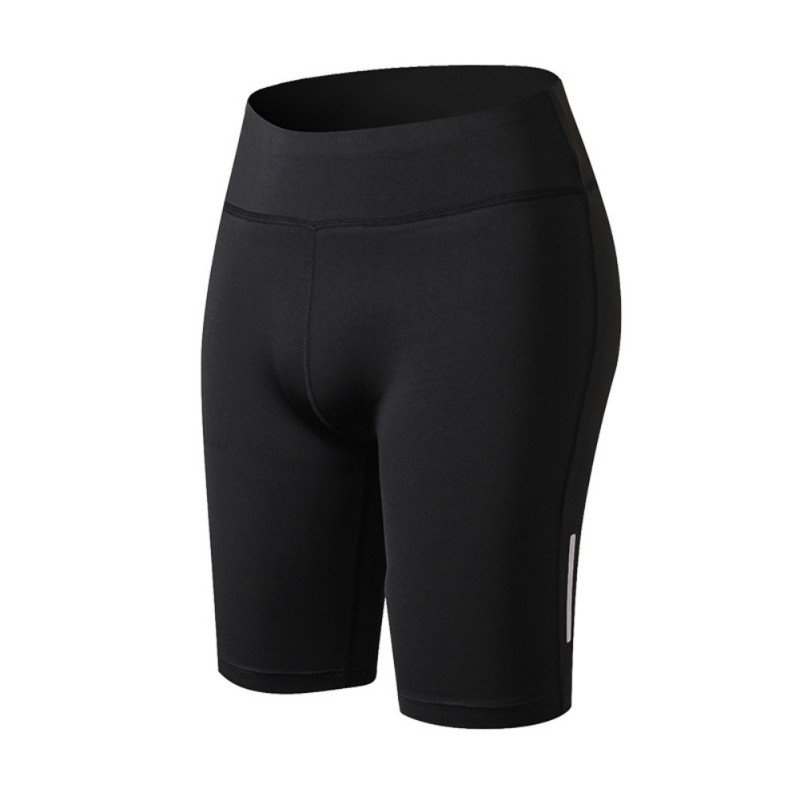 Womens Compression Fit Tight Night Reflective High Waist Elastic Short Women Tight Bottom Slim shorts causal high waist asymmetric solid color shorts for women