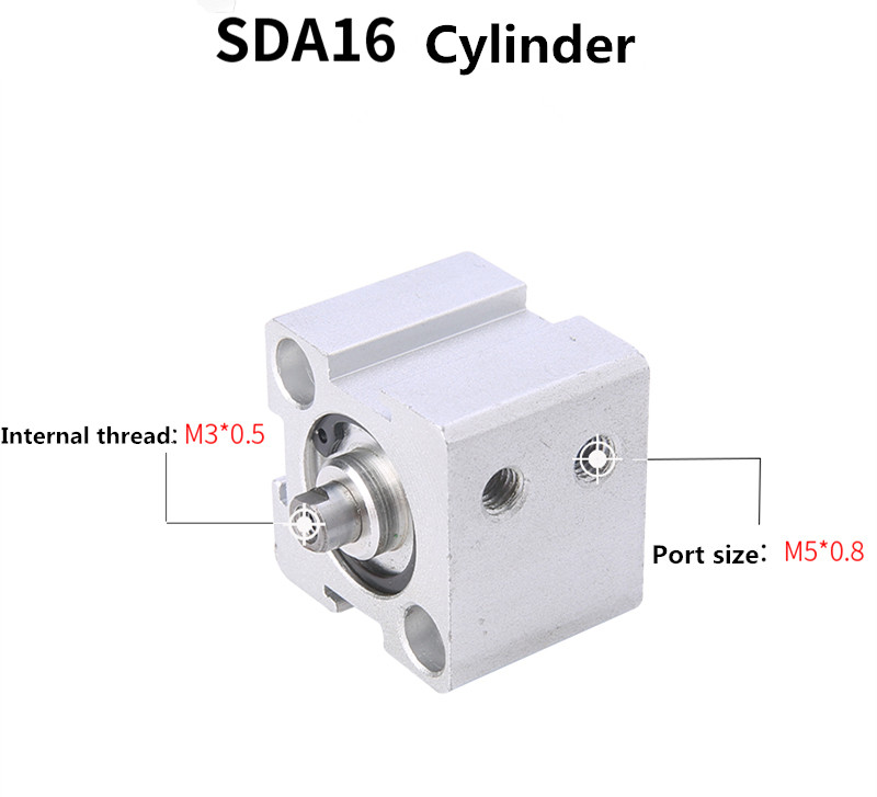 Free shipping Thin cylinder AirTAC type SDA16 series 5mm to 100mm stroke aluminum alloy air cylinder Pneumatic components sda50 15 s b airtac air cylinder pneumatic component air tools sda series