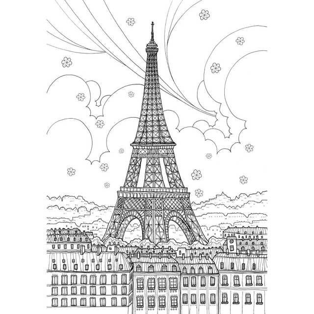 Francja Podroz Kolorowanka Secret Garden Ksiazki Styl Dla