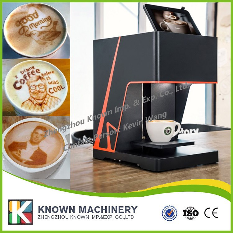 Free shipping supply the latte art coffee printer / Automatic edible food coffee drinks printing machine coffee printer food printer inkjet printer selfie coffee printer full automatic latte coffee printe wifi function