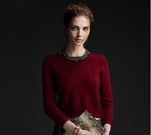 100%Cashmere Sweater Women Red Brown O-neck Pullover Warm Soft Solid Natural Fabric High Quality Free Shipping