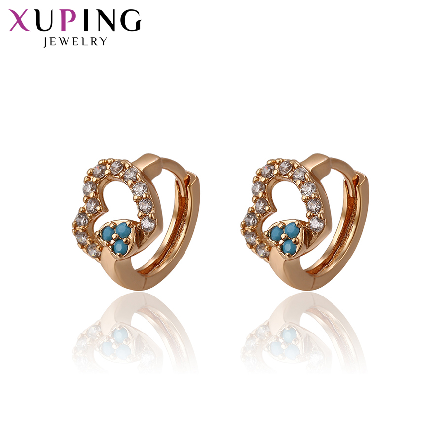 11.11 Deals Xuping Fashion Heart-shaped Earrings Gold Color Plated for Women Jewelry Thanksgiving Day Gift S58,5-93374 yoursfs heart necklace for mother s day with round austria crystal gift 18k white gold plated