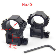 Free Shipping 20mm dovetail scope mount double screw 2pcs 25.4mm Diameter Tactical Rail Mount Hunting Accessories