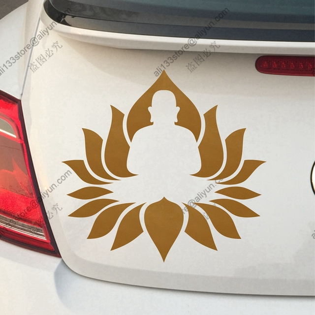 Buddha lotus om buddhism yoga india car truck vinyl decal sticker die cut no background pick