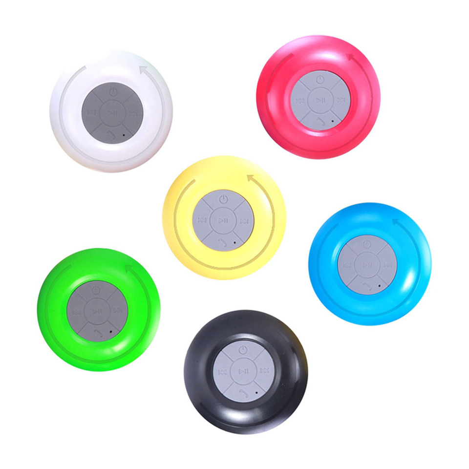 Wireless Mini Suction Cup Waterproof Bluetooth Speaker Car Subwoofer Bluetooth Sound Box MP3 Hnadsfree Shower Portable Speaker