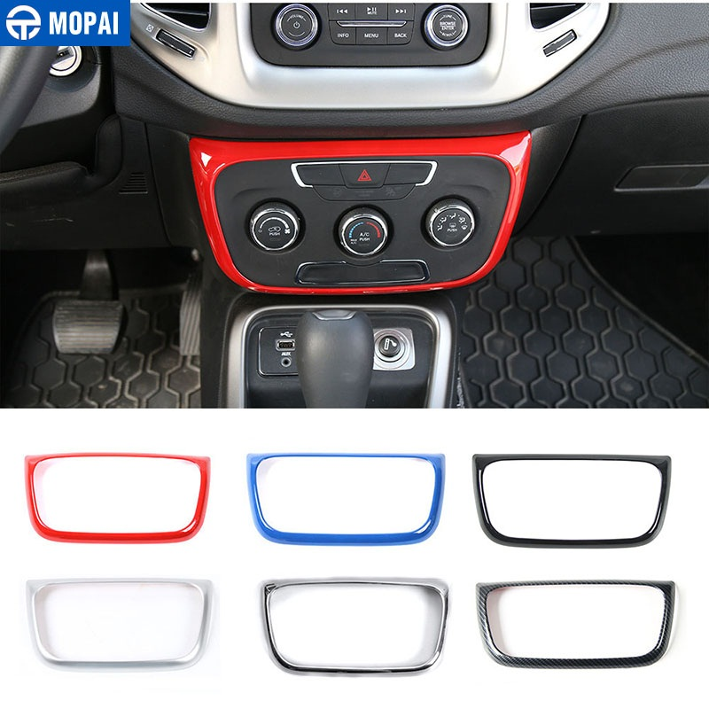 MOPAI ABS Car Interior Air Conditioning Control Switch Panel Decoration Stickers For Jeep Compass 2017 Up Car Styling-in Interior Mouldings from Automobiles & Motorcycles