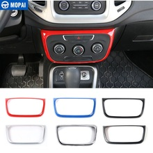 MOPAI ABS Car Interior Air Conditioning Control Switch Panel Decoration Stickers For Jeep Compass 2017 Up Styling