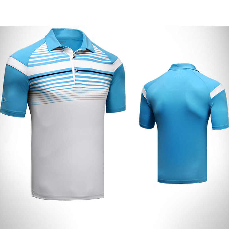 986451a5 ... Brand Logo Men's Golf Shirt Sports polo shirt Turn-down Collar Jersey  Summer Horizontal stripes