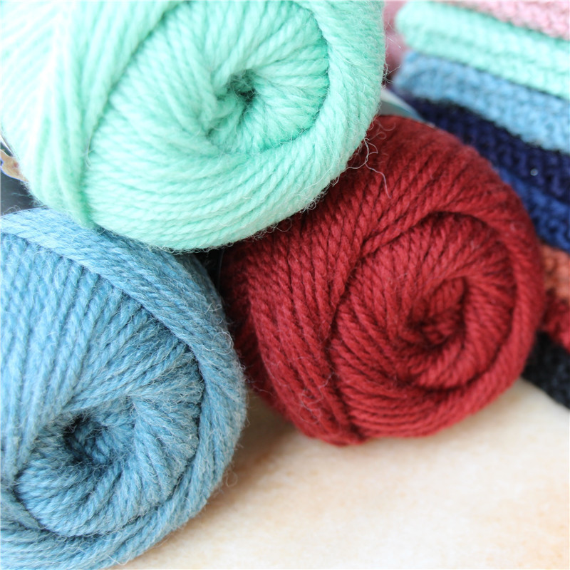 Image 5 - 300g/lot High Quality Thick Yak Wool Yarn For Hand Knitting Needlework Sweater Hat  Merino Blended Wool Thread Melange knitted Y-in Yarn from Home & Garden