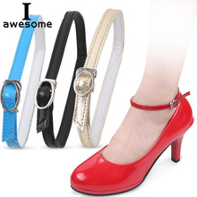 1 Pair Fashion Design Charm Women Convenient Cowhide Leather Detachable Shoes Belt Ankle Shoe Tie Lady Strap Lace Band For Women charm women creative design convenient leather shoes belt ankle shoe tie lady strap lace band for holding loose high heels
