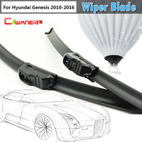 2Pcs Soft Rubber Windscreen Windshield Car Bracketless Wiper Blades For 2010 2014 Genesis